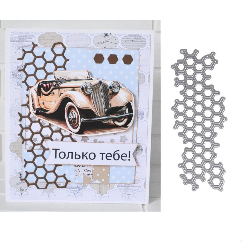 Molde de abeja troquelado de Metal de felicitación troqueles 3D DIY foto con troquel artesanal de colección de recortes tarjetas de invitación que hacen la decoración del marco 127*51mm