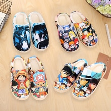 Hiver chaud en peluche hommes femmes chaussures maison pantoufles Dragon Ball Son Goku Luffy Naruto Pikachu OW Anime chaussures en peluche livraison gratuite