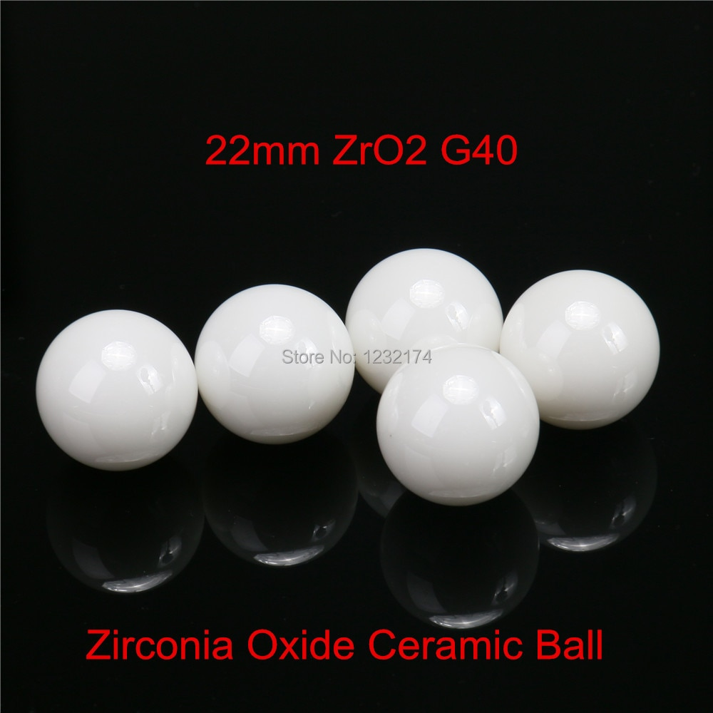 22 مللي متر زركونيا السيراميك الكرة G40 ZrO2 تستخدم ل صمام الكرة/تحمل/الخالط/بخاخ/مضخة 22 مللي متر السيراميك الكرة