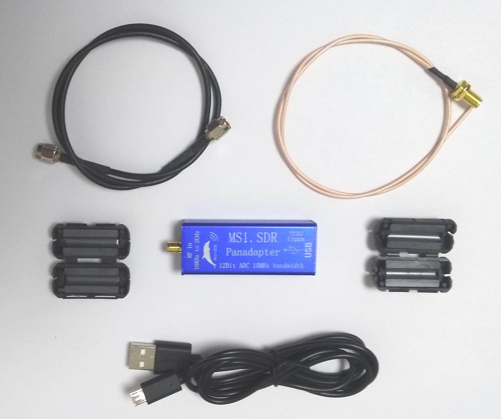 مجموعة وحدة الطيف البانورامي الأحدث من 10 كيلو هرتز إلى 2 جيجا هرتز VHF UHF LF HF متوافقة مع RSP1 TCXO 0.5ppm