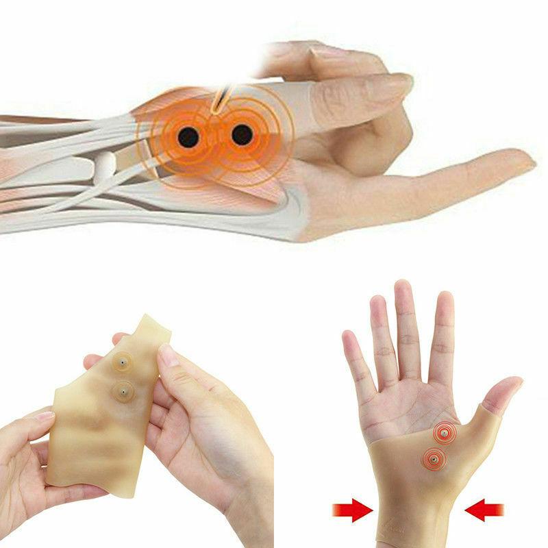 Guante a la muñeca de terapia magnética para hombres y mujeres, alivia el dolor de la Tenosynovitis, guantes de soporte para la muñeca, 1 Uds.