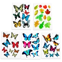 leepee motorcycle car decal sticker cartoon reflective scratch cover funny auto decals lovely butterfly leaves car stickers