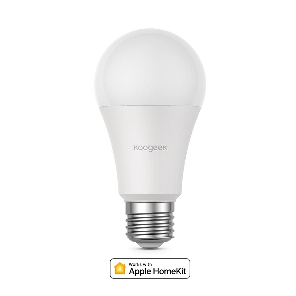 Koogeek E26 7W Dimmable WiFi Smart LED Light Bulb For Alexa Apple HomeKit/ For Google Assistant Voice Control APP Remote