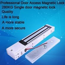 Eseye serrure électrique à serrure magnétique 280kg   Serrure de porte (600LB), Force de maintien pour le contrôle des accès serrure électromagnétique de porte simple