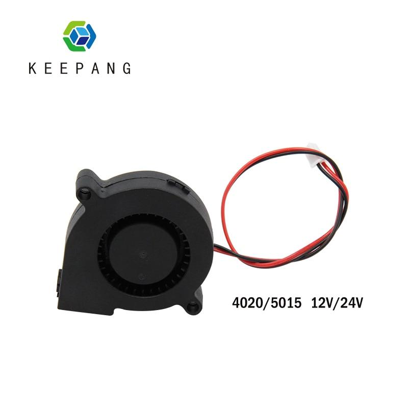 Kee Pang 4020 5015 ventilateur de refroidissement pour imprimante 3D ventilateur 12V/24V radiateur de refroidissement Turbo ventilateur 2 broches extrudeuse cc Clooer ventilateur noir