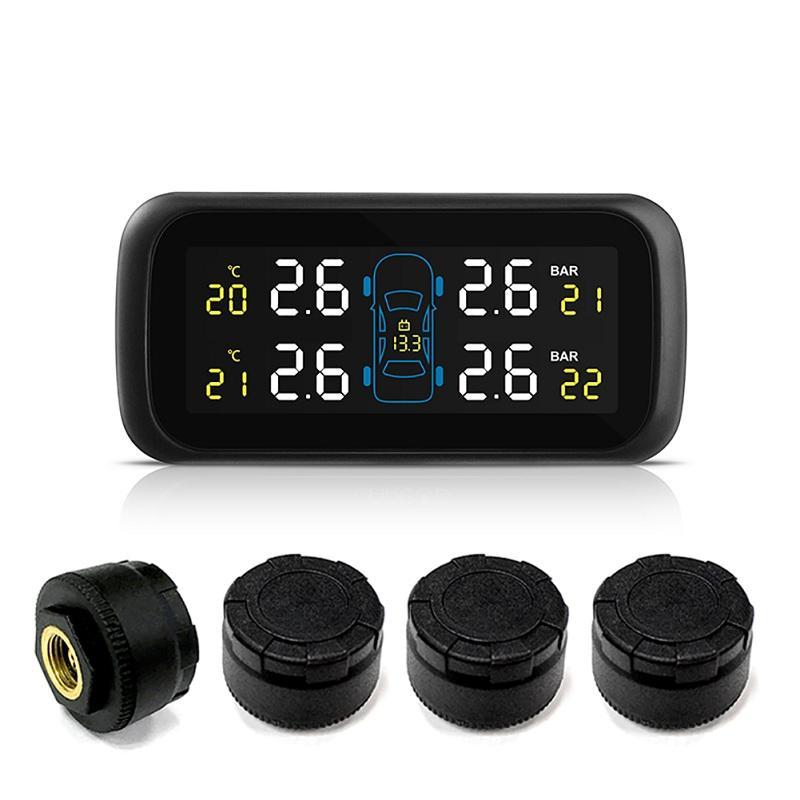 Monitor de presión de neumáticos de coche TPMS Color en tiempo Real Pantalla Multifunción encendedor de cigarrillos fuente de alimentación directa