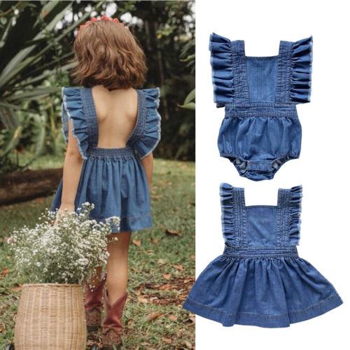 Big/Little Sister Famliy Matching Outfit Newborn Toddler Kids Baby Girl Romper Dress Cotton Sleeveless Outfit