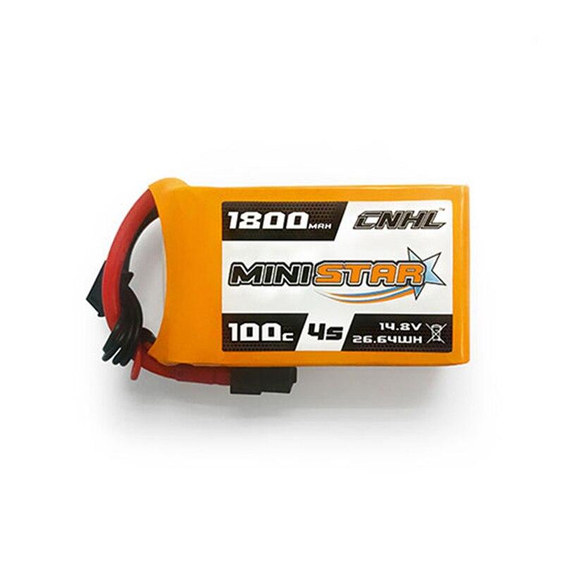 CNHL MiniStar 4S/5S 14,8 V 18,5 V 1800mAh 100C batería Lipo con enchufe XT60 para RC Drone FPV modelos de carreras repuestos