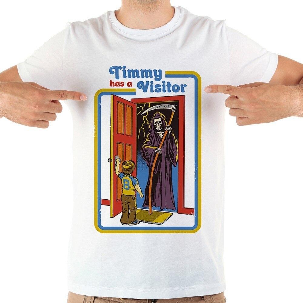 Tampa do livro O Timmy tem um Visitante engraçado camiseta homme JOLLYPEACH MARCA new white manga curta camiseta casual homens
