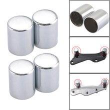 Kit de matériel damarrage pour miroir   Kit de housses de matériel de miroir chromé adapté à Harley CVO Limited FLHTKSE Fat Boy FXST 84-18 4 pièces