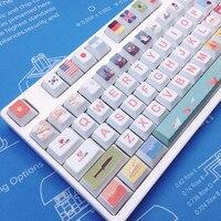 104 Keys Christmas Theme PBT Dye Sublimation Keycap Cherry Profile Standard Mechanical Keyboard Key Caps For IKBC GANSS Varmilo