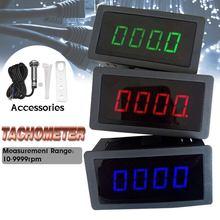 4 Digital LED Tachimetro RPM Speed Meter Gauge Rosso Verde Blu + Sala Interruttore Di Prossimità Sensore Per Il Motociclo Motore Marino bici