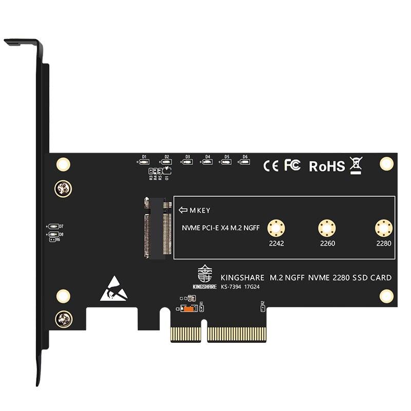 PCI-Express PCI-E 3,0 X4 to M.2 NGFF M слот для ключа конвертер адаптер карта M2 Nvme PCIE SSD Riser карта для настольного компьютера Поддержка 2230 22