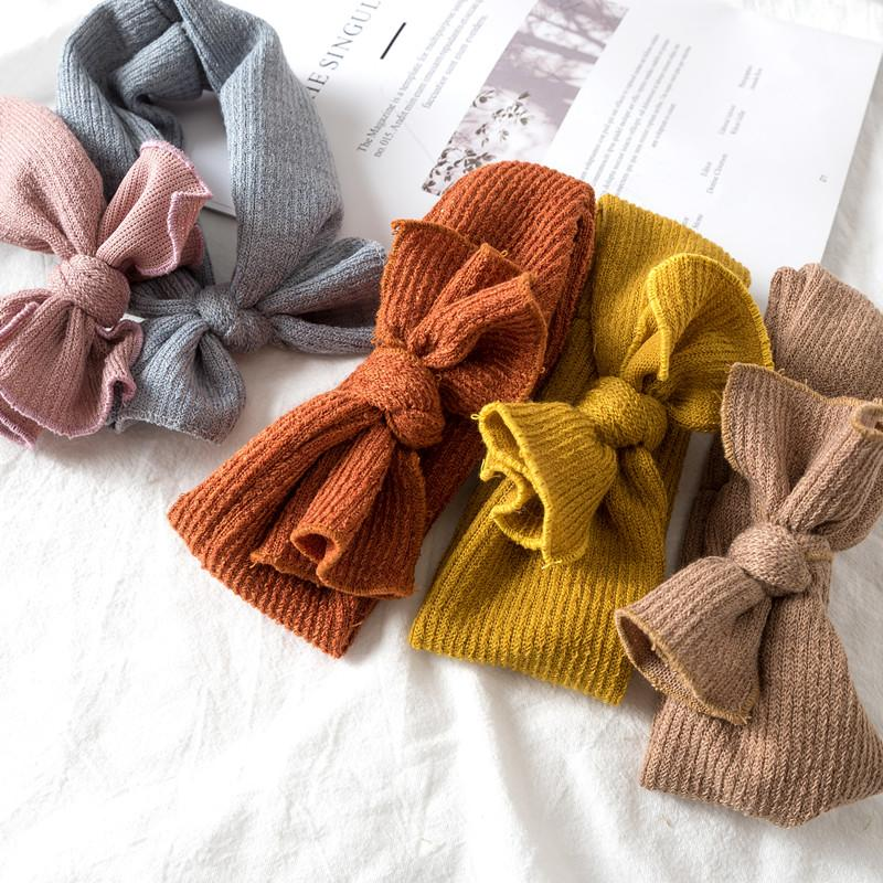 1 шт. зимние теплые Теплая повязка для ушей «кроше» для маленьких девочек, эластичная повязка на волосы