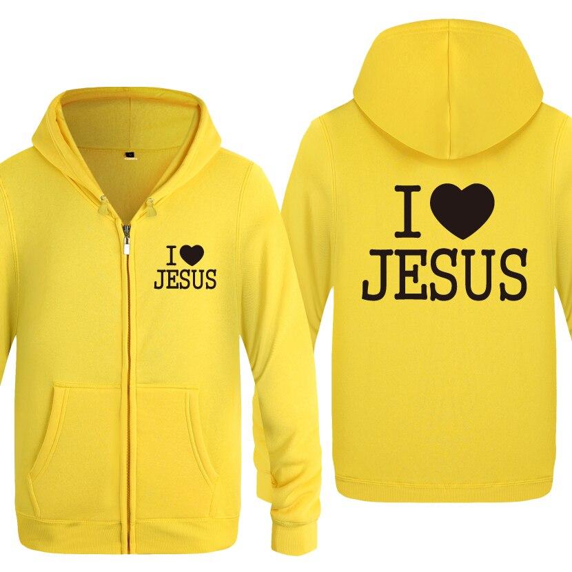 Sudaderas con capucha para hombre con capucha y cremallera de I Like Jesus God 2018