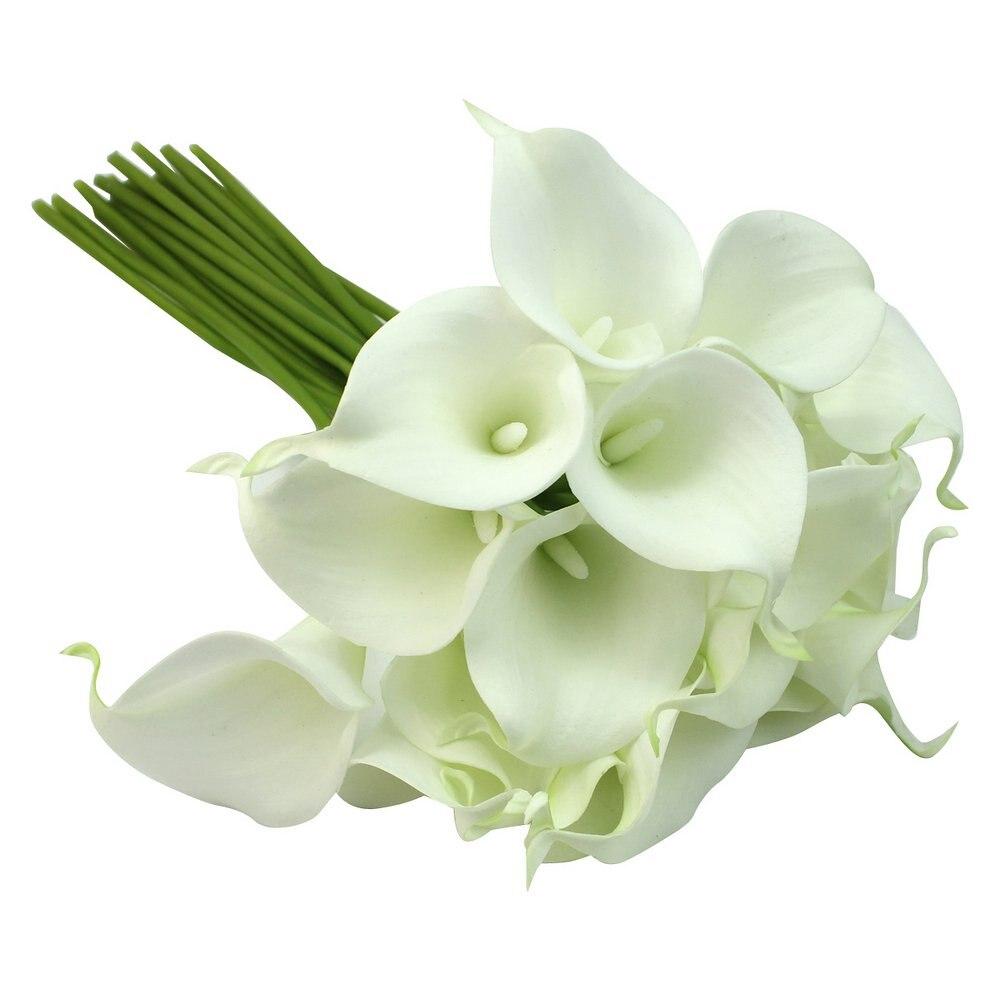 ¡Promoción! Ramo de flores de látex con 20 cabezas para decoración de Boda nupcial