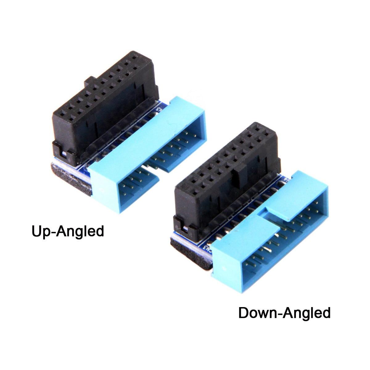 Xiwai USB 3,0 20pin adaptador de extensión para DELL HP Lenovo USB3 placa base arriba angulada abajo angulada 90 grados macho a hembra