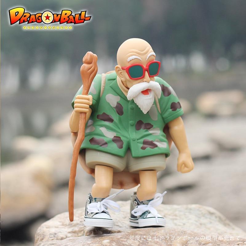 Animación de garaje para niños juguetes de Dragon Ball para niños figuras de acción muñecas de PVC Master Roshi & Kame Sennin modelos excelentes regalos