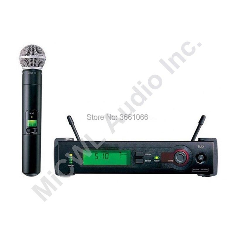 Nuevo sistema de micrófono Vocal portátil inalámbrico de mano MiCWL slx24 slx24/beta58 sm beta 58 KTV puesta en escena