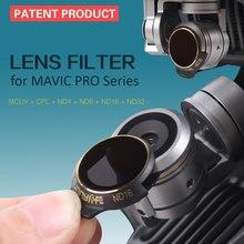 Sunnylife 3/4 Uds juego de filtros de lentes UV MCUV CPL ND ND4 ND8 ND16 ND32 para accesorios de cámara de cardán DJI Mavic Pro