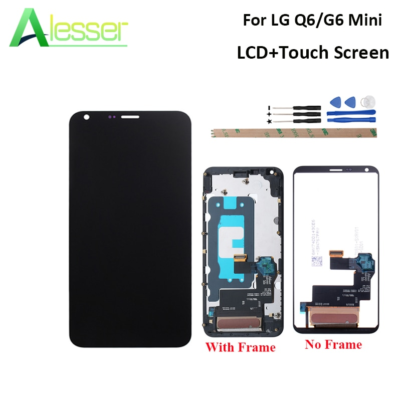 Alesser para LG Q6 M700N M700A M700DSK M700A pantalla LCD y pantalla táctil + marco para LG Q6a G6 MINI LCD + herramientas 5,5