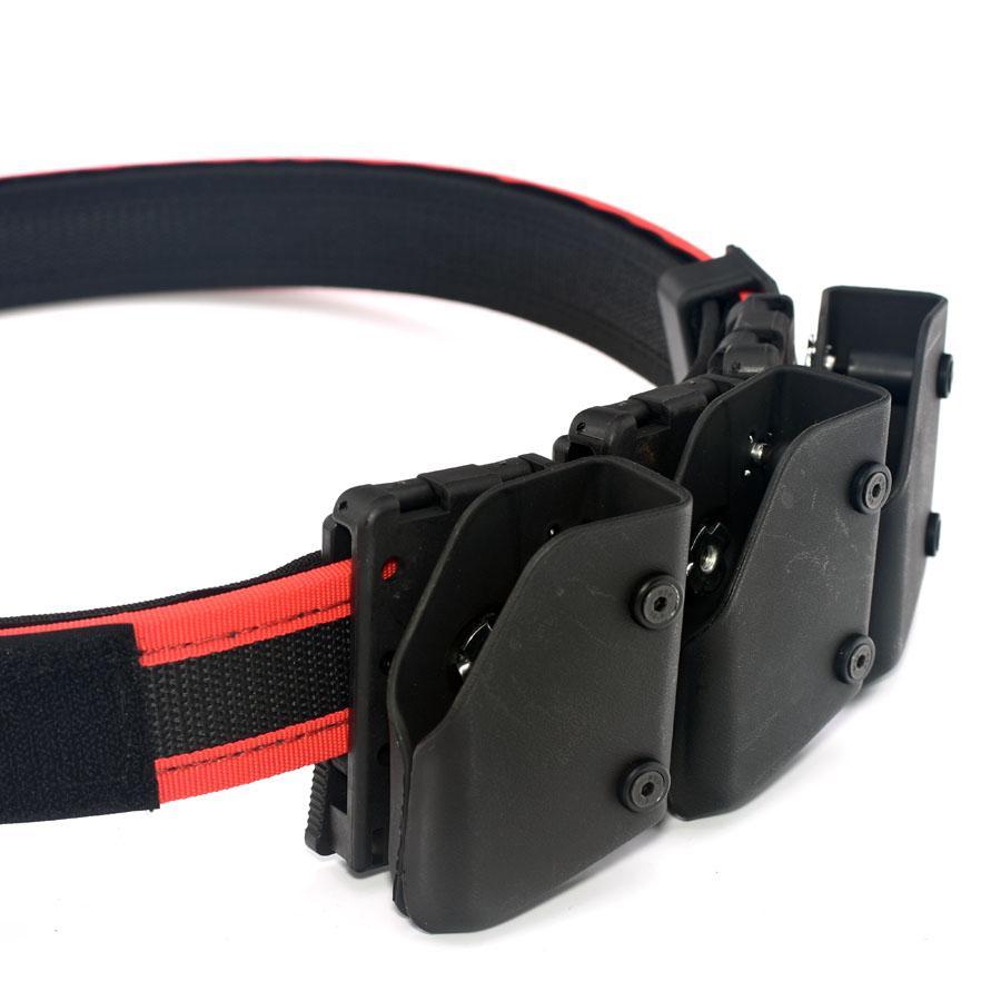 BK Multi-ángulo 3 * pistola revista bolsa pistolera IPSC caza Kits con cinturón rojo