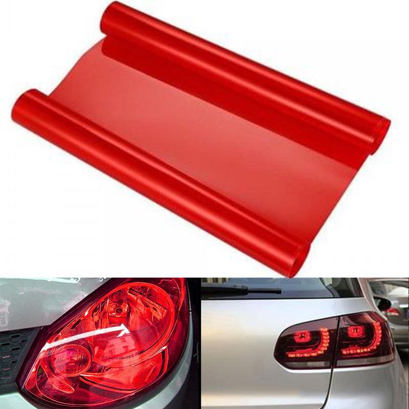 12x60 pulgadas brillante rojo tinte vinilo envoltura pegatina faro película coche luz lámpara vinilo rojo 150*30 cm/60*12 pulgadas