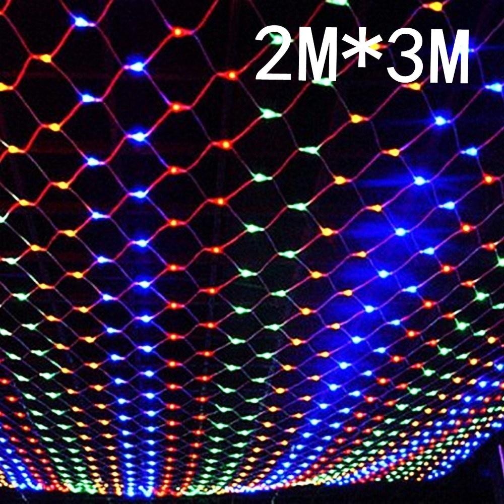 Супер яркий сетчатый светильник, 2 м x 3 м, 204 светодиода, 8 режимов, 220 В