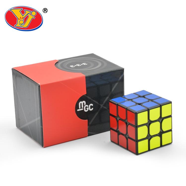 Enhanced Version YJ MGC 3x3x3 Magnetic Magic Cube Black Yongjun MGC Speed Cube for Brain Training Toys For Children Kids