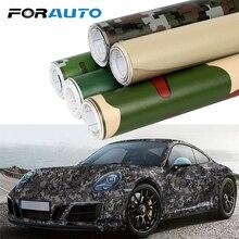 FORAUTO Car Wrap Film Auto Decors 3D Car Stickers Camouflage Vinyl PVC Car Styling Digital Woodland Green Desert Camo 20cm*152cm