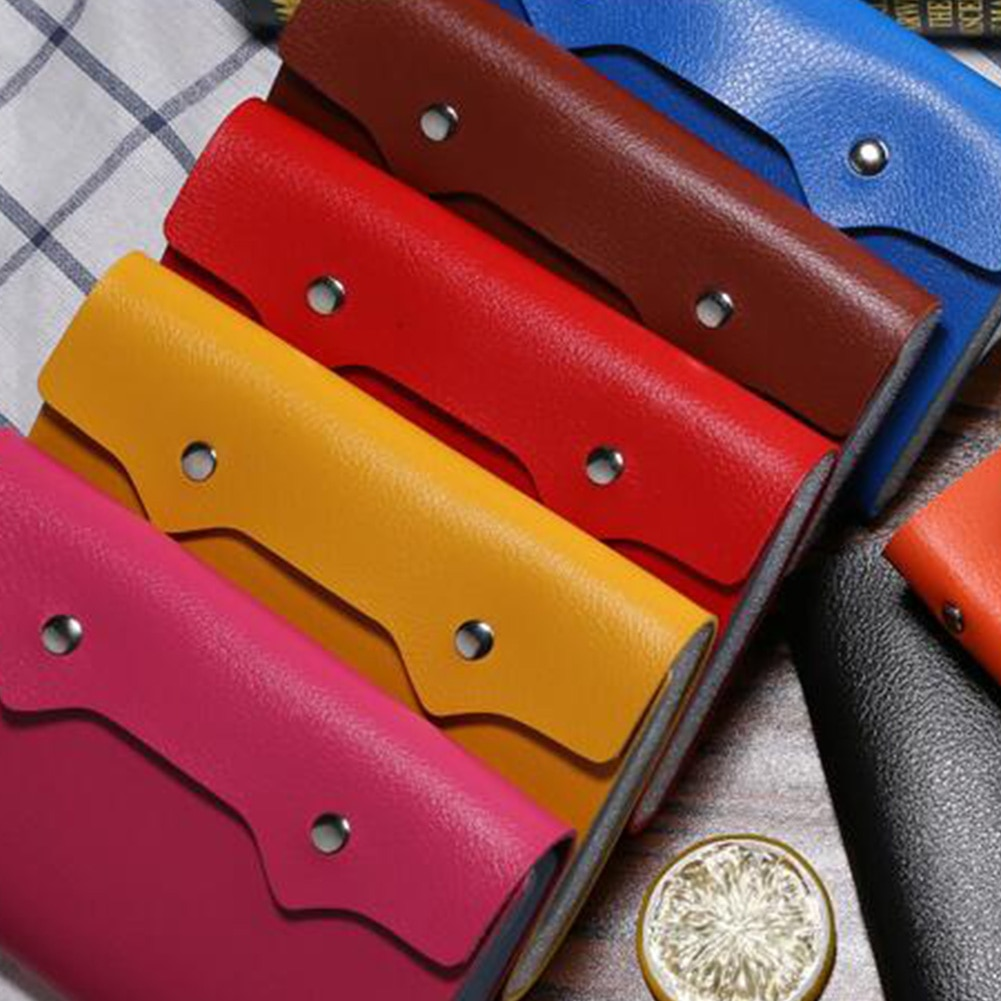 Gran oferta 1Pc 108 ranura titular de la tarjeta de cuero de la PU caso de tarjeta de cartera función bolso minimalista carpeta DE LA IDENTIFICACIÓN tarjeta