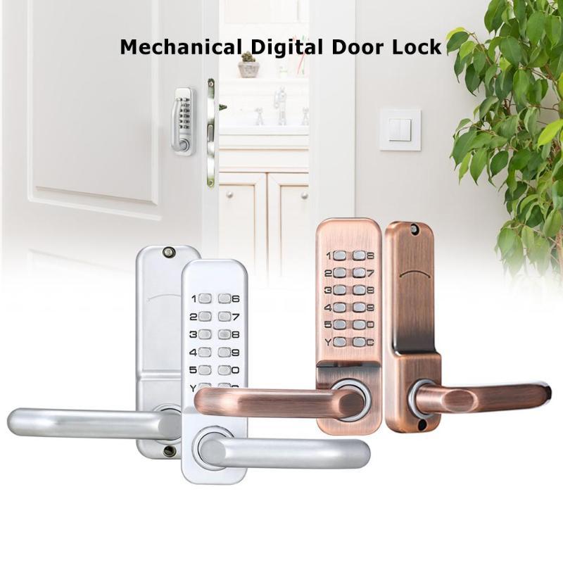 الميكانيكية قفل باب رقمي سبائك الزنك دفع زر دخول بدون مفتاح رمز قفل مجمع أثاث أمن الوطن الأجهزة