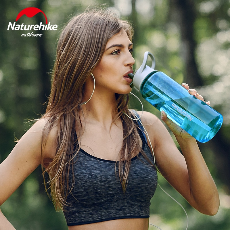 Naturehike 750ml 1000ml plástico esportes garrafa de água bicicleta ao ar livre esporte garrafa corrida caminhadas acampamento portátil chaleira