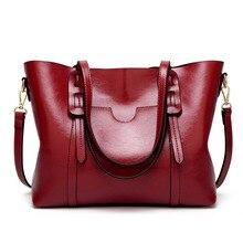 Fashion Oil wax 100% genuine leather womens messenger crossbody bag Large Tote women leather handbags female shoulder bag C834