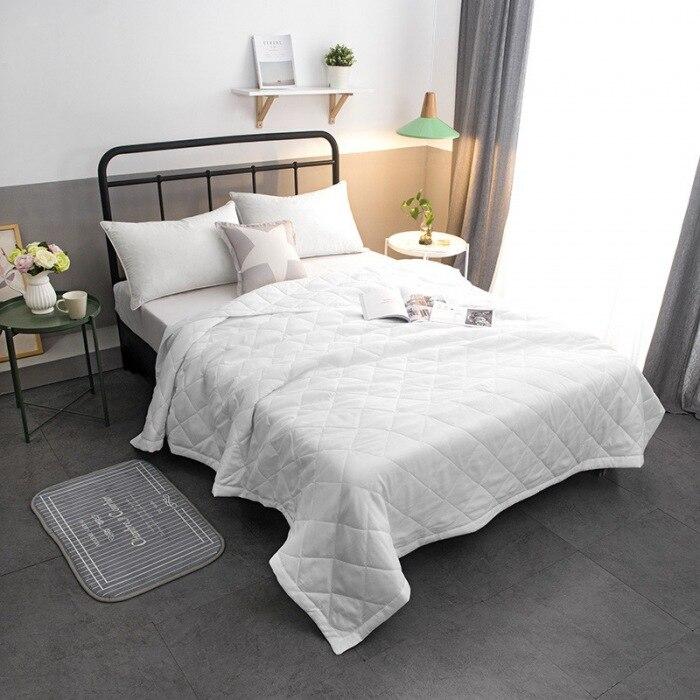 Colcha de verano para edredón, manta cómoda, Textiles para el hogar aptos para niños y adultos, color rosa sólido y blanco