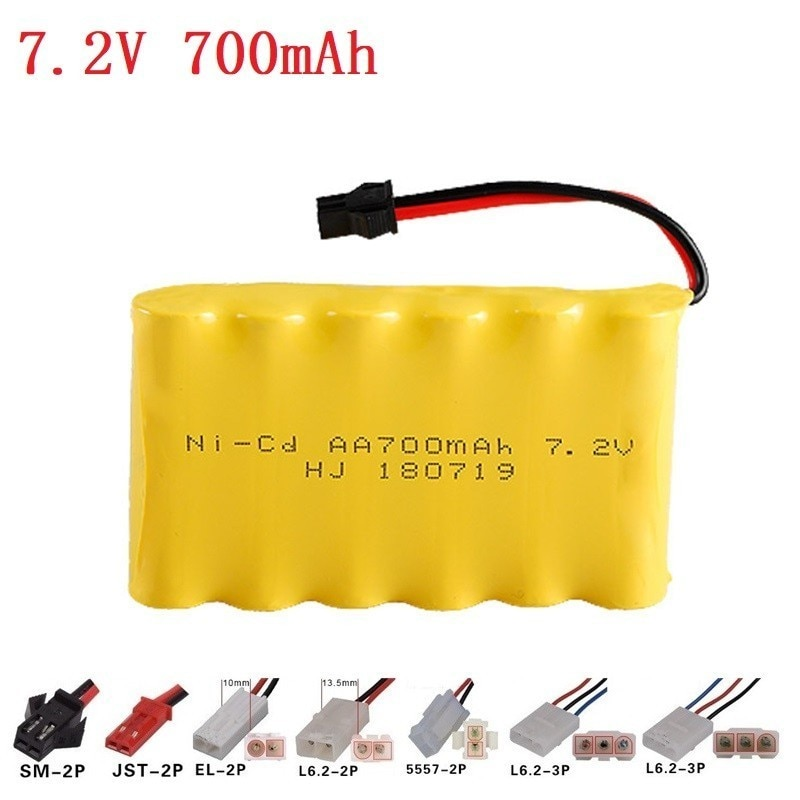 7.2V 700MAH Ni-cd battery group Remote Control toy electric lighting security facilities 6*AA battery RC Toys Cars Gun Tank Ship