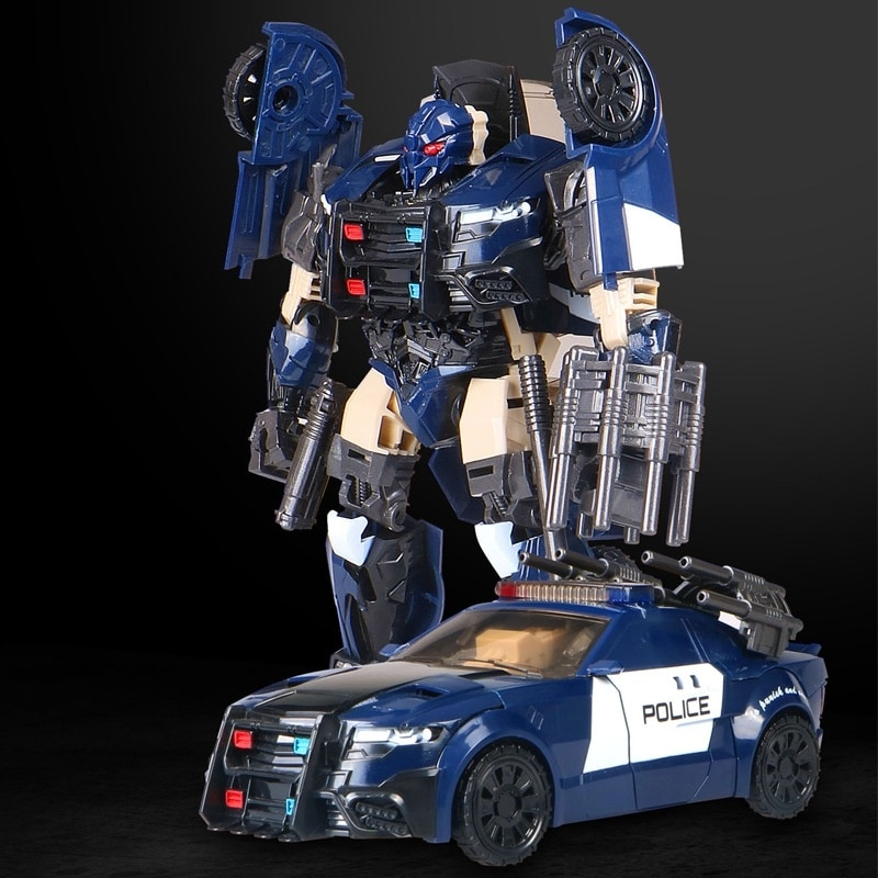 Les voitures de chasse de Robot déformables transforment le véhicule enfants jouets cadeaux de voiture pour les garçons