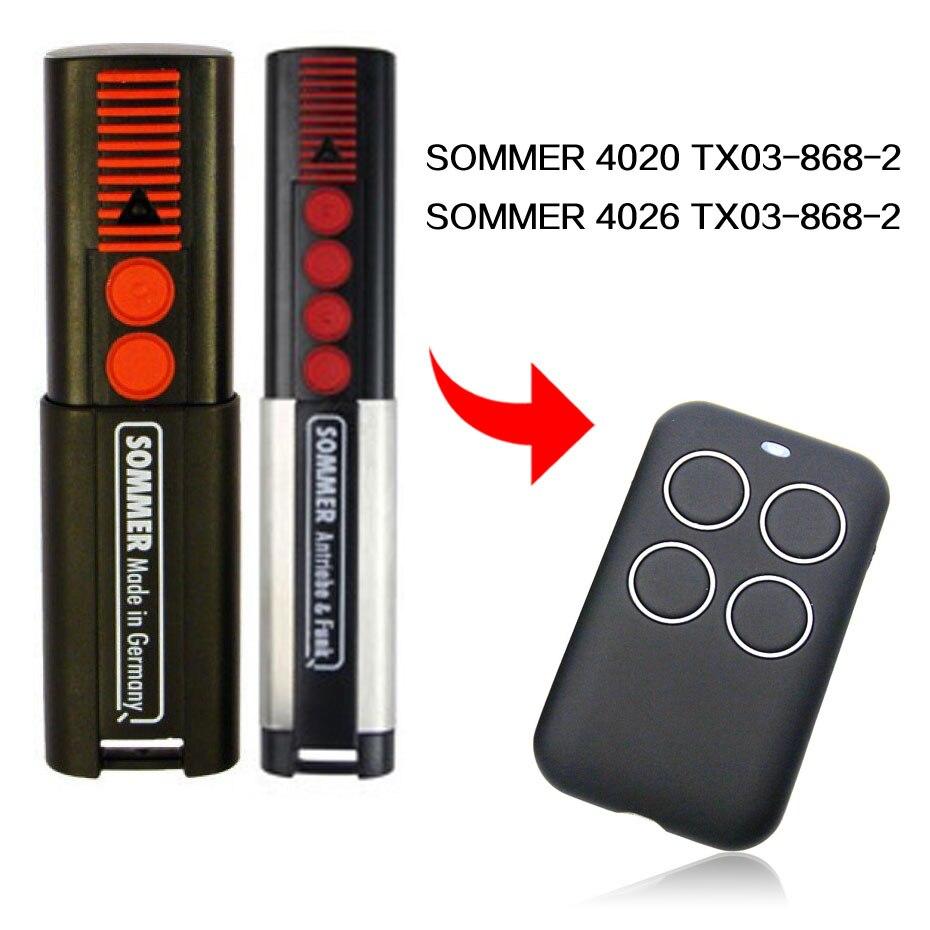 SOMMER 4020 4026 TX03-868-2 control remoto puerta control remoto SOMMER control remoto para puerta de garaje, 433,92 MHz