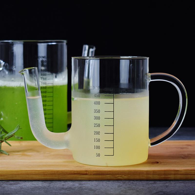 34oz Oil Water Separation Cup Fat Separator Heat Resistant Oil Pot Multi Graduation Transparent Large Capacity Measuring Cup