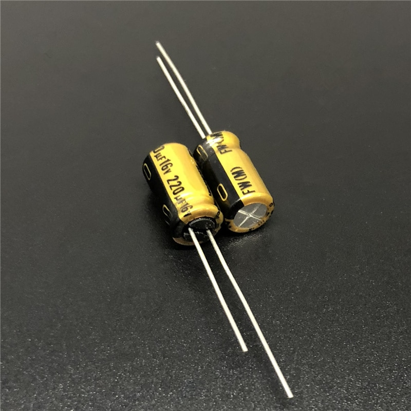 10pcs 220uF 16V NICHICON FW Series 6.3x11mm 16V220uF HIFI Audio Capacitor