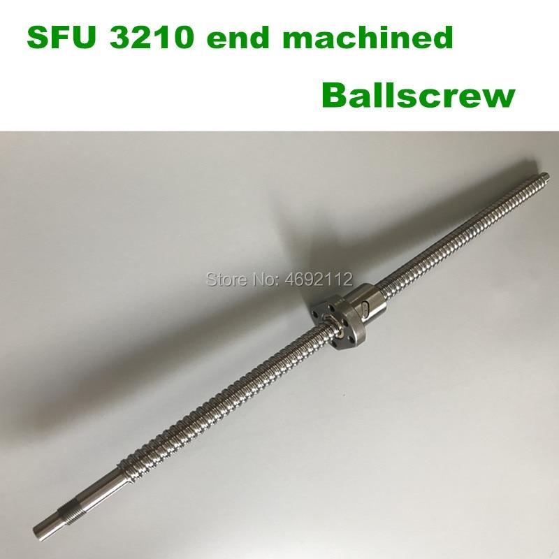 SFU3210 300 350 400 450 500 550 600 milímetros ballscrew BK25/BF25 end machined + 3210 Ballnut CNC peças