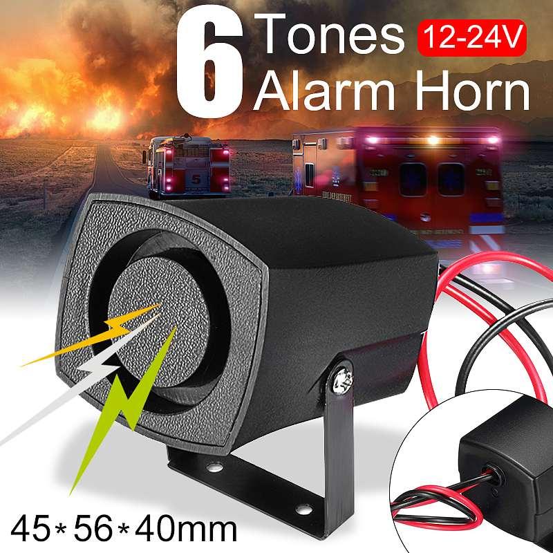 12-24 В Автомобильная полицейская пожарная сигнальная сирена, сигнальное устройство зуммер