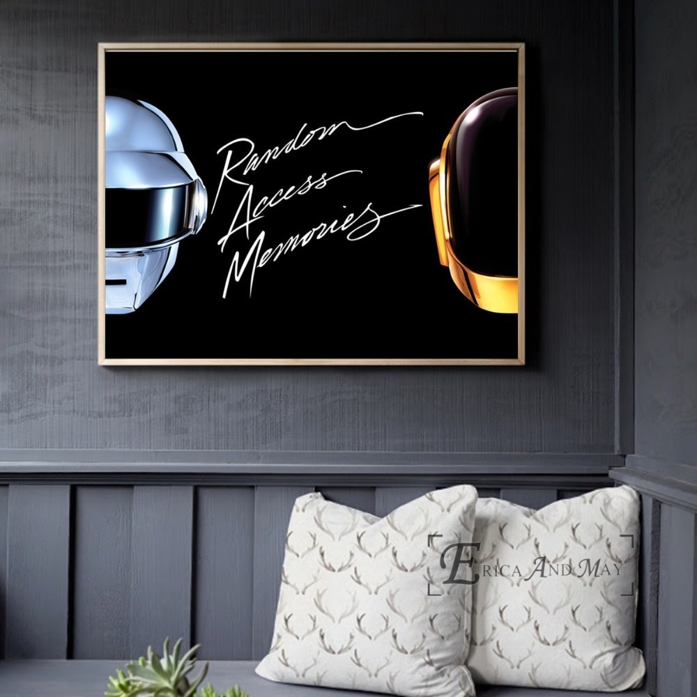 Daft Punk Helmet Mask Music Poster And Print Canvas Art Painting Wall Pictures For Living Room Decoration Home Decor No Framed