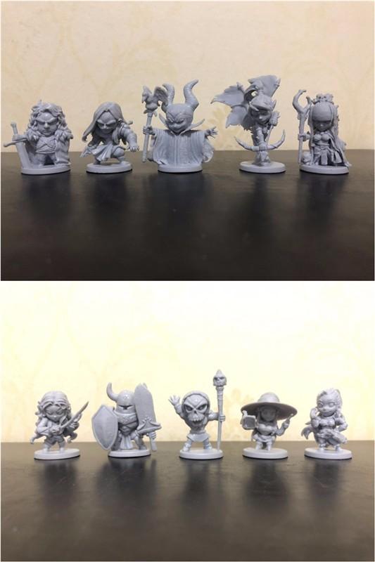 1/72 Kits de modelos de plástico Arcadia Hero Quest 10 piezas modelos de escala miniatura figuras de personas juguetes para niños DIY Kit liquidación