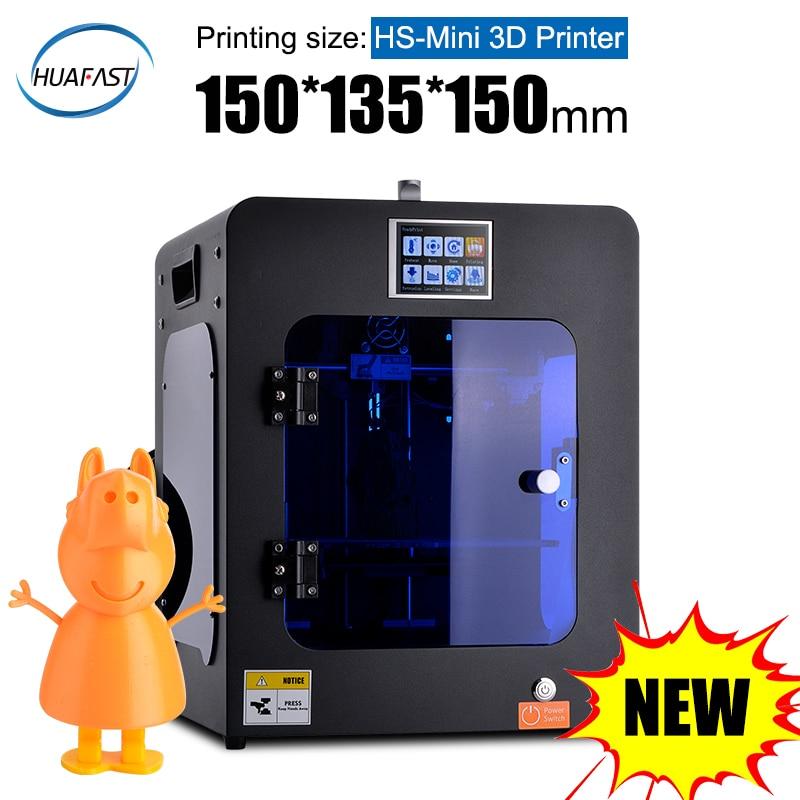 HUAFAST 3D Printer Mini 2019 New Affordable Printers Metal FDM Upgrade Color Printing Plastic DIY Reprap i3 Ramps High Precision
