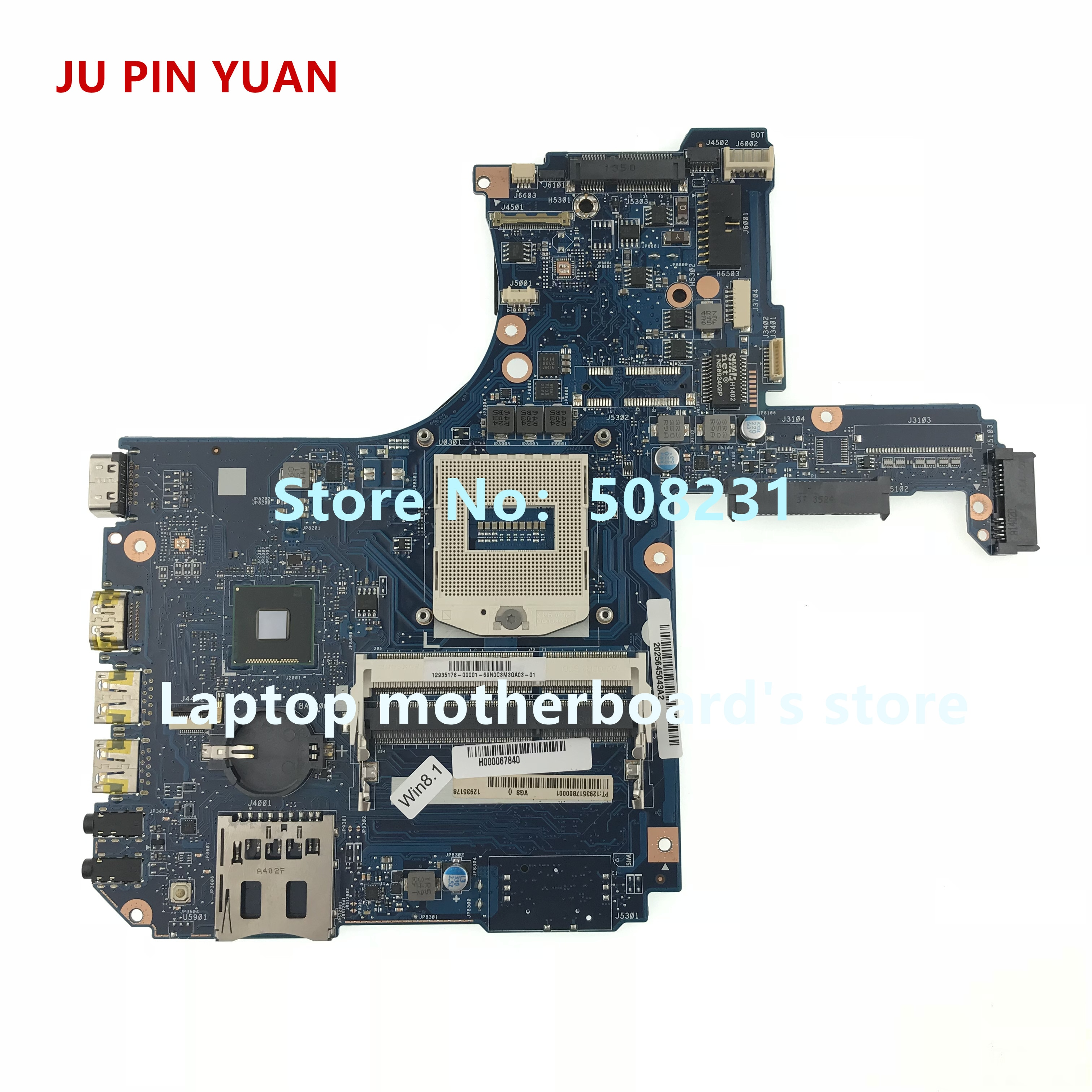 ju pin yuan h000055980 mainboard for toshiba satellite s50 s55t s55 s55 a s55 a5188 laptop motherboard socket pga 947 hm86 JU PIN YUAN For Toshiba Satellite L50-A L55-A laptop motherboard H000067840 mainboard socket PGA 947 HM86 DDR3L