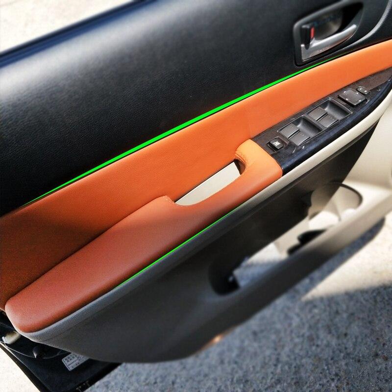 4PCS Auto Styling Innen Mikrofaser Leder Tür Panel Abdeckung Aufkleber Trim Für Mazda 6 2006 2007 2008