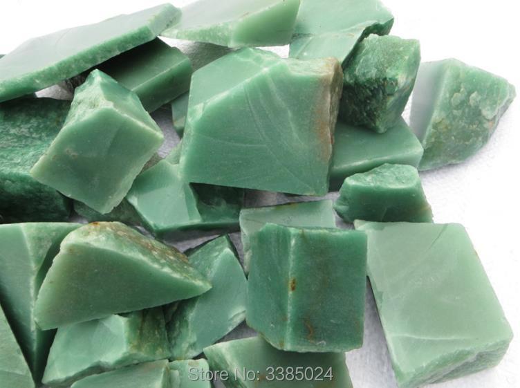 100g/lot Natural green aventurine jade quartz Rock rough stone mineral specimens