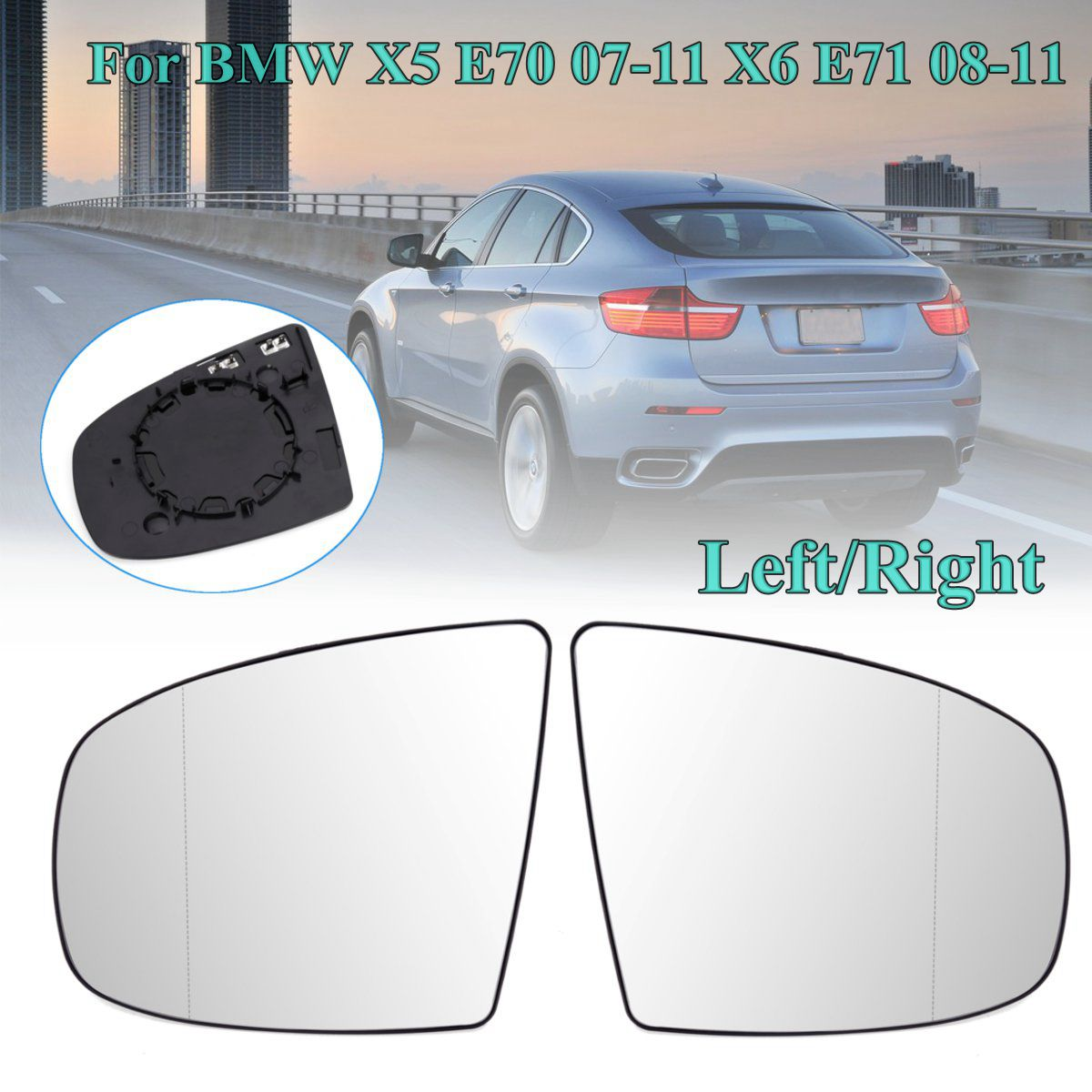 Wing Door Heated Mirror Glass Side Electric Heated Wing Mirror Glass For BMW X5 E70 07-11 X6 E71 08-14