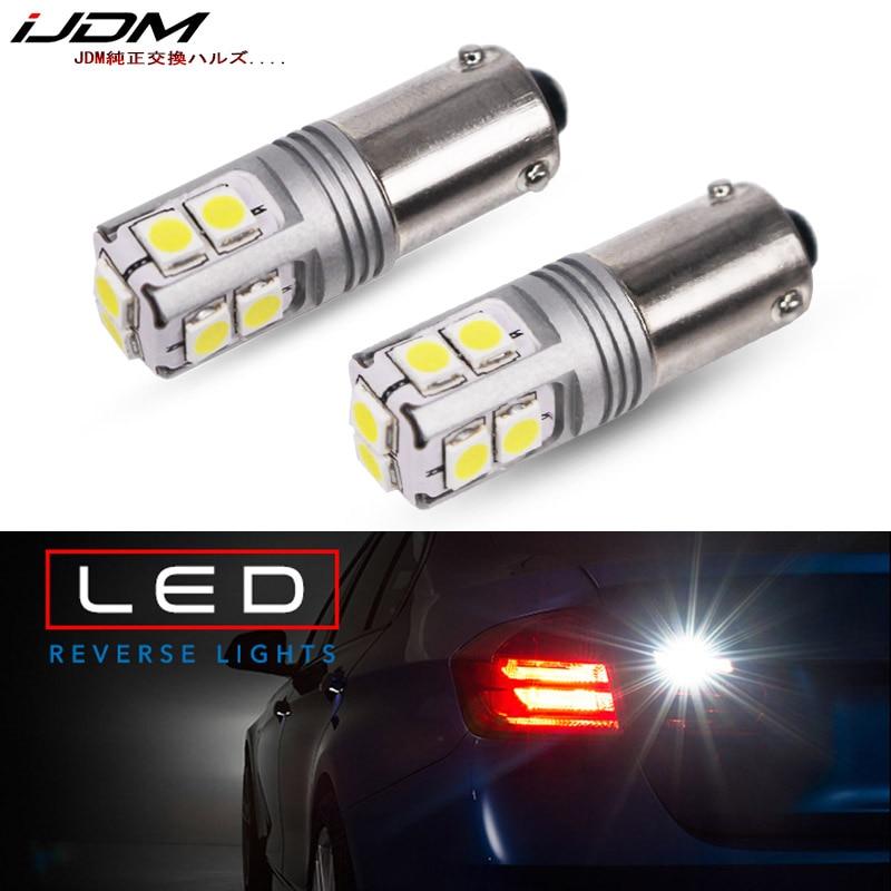 IJDM coche BAY9S LED Canbus xenón blanco 10-SMD 3030 fichas H21W bombilla LED para 16-BMW F30 Serie 3 luz de retroceso de marcha atrás 12V 24V